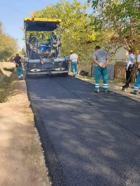 Asfaltări finalizate în comuna Vadu Săpat